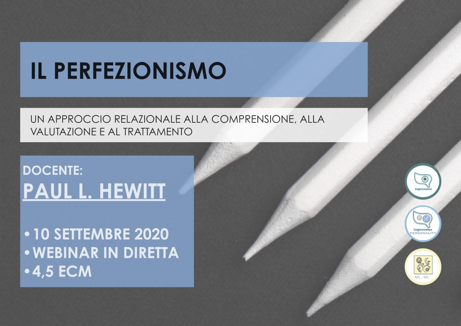 hewitt, perfezionismo, webinar, psicoterapia